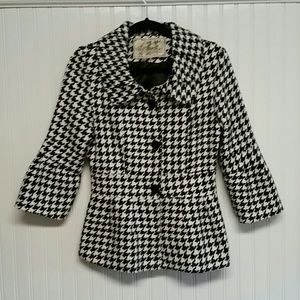 Anthropolgie Emmelee Hounds Tooth Jacket (small)